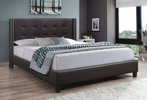 IF 5415 Brown PU Bed with Nailhead Detail