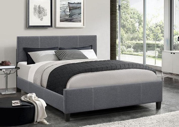IF 5430 - Platform Bed - Dark Grey