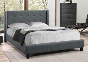 IF 5435 - Platform Bed - Grey