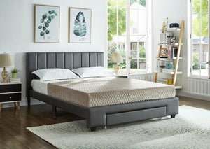 IF 5481 - Bed - Grey PU