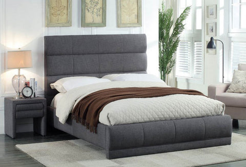 IF 5860 - Bed - Grey Fabric