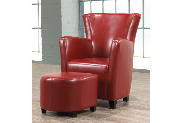 IF 663R - Easy Chair and Ottoman - Red