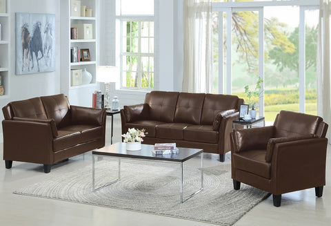 IF 8001 - 3Pcs Sofa - Brown