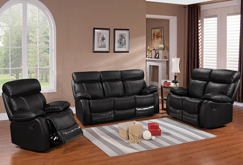 IF 8010 - 3Pcs Sofa – Black