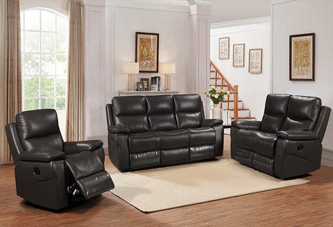 IF 8012 - 3Pcs Sofa – Black - Canapé 3Pcs - Noir
