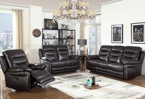 IF 8015 - 3Pcs Sofa - Leather Air Brown