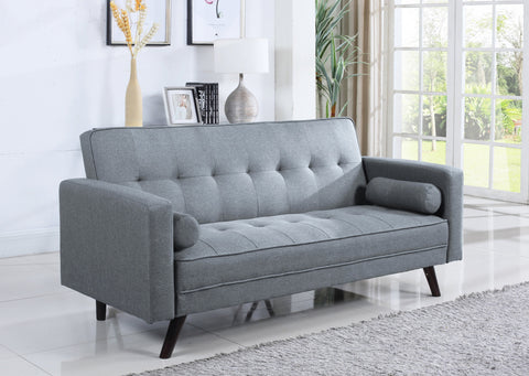 IF 8054 - Sofa Bed Light Grey Fabric - Canapé Lit