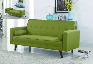 IF 8057 - Sofa Bed Green Fabric - Canapé Lit Vert