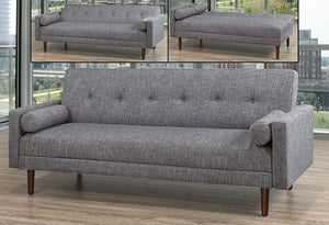 IF 8062 - Sofa Bed - Grey with 2 Pillows