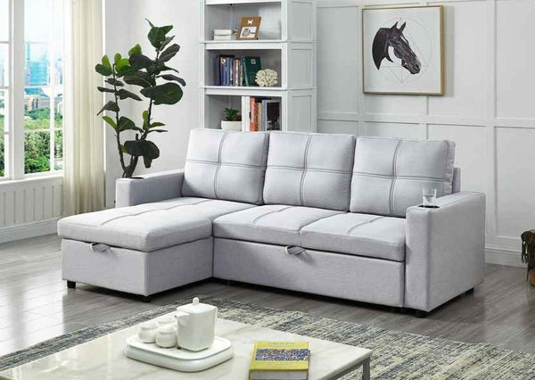 IF 9020 - Sofa Bed Sectional With Storage And Cup Holders