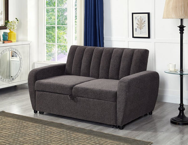 IF 9061 - Love Seat  Sofa Bed - Lit Causeuse - Dark Grey