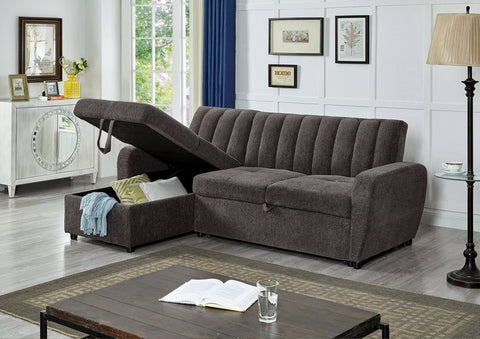 IF 9062 - Sectional Sofa Bed (With Storage) - Canapé Lit Sectionnel