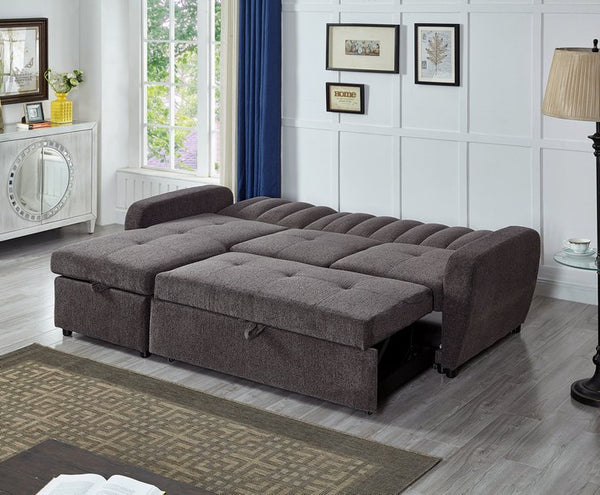 IF 9062 - Sectional Sofa Bed (With Storage) - Canapé-lit sectionnel (avec rangement)