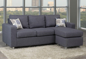 IF 9325- Sectional Sofa - Grey Fabric