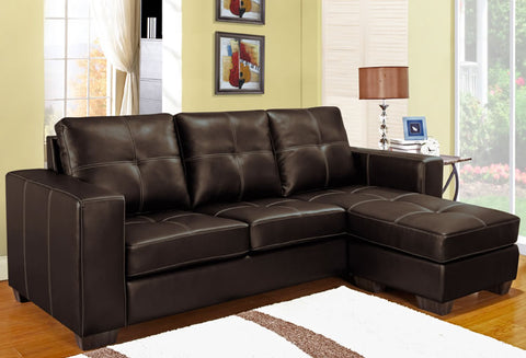IF 9356 - Reversible Sectional Sofa - Brown - Sofa sectionnel réversible - brun