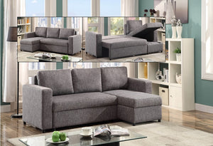 IF 9410 - Reversible Left or Right Chaise - Grey Fabric