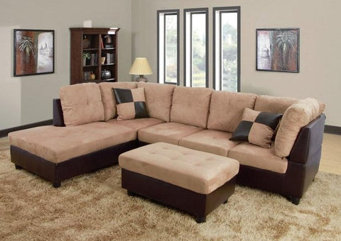 IF 9420 / IF 9421 - Sectional sofa Reversible Left or Right - Beige / Canapé sectional  réversible gauche ou droite - Beige