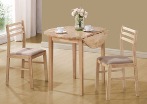 "I 1006-DINING SET - 3PCS SET / NATURAL WITH A 36""DIA DROP LEAF"