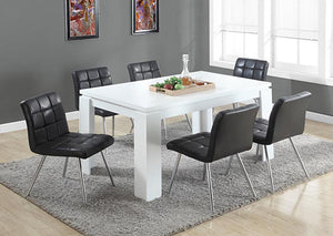 "I 1056-DINING TABLE ONLY- 36""X 60"" / WHITE / I 1056-TABLE À MANGER SEULEMENT - 36 ""X 60"" / BLANC"