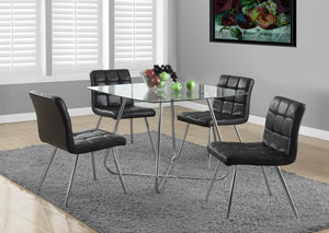 "I 1070-DINING TABLE ONLY- 40""DIA CHROME WITH 8MM TEMPERED GLASS"