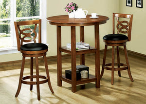 "BARSTOOL - 2PCS / 42""H / SWIVEL / DARK OAK BAR HEIGHT"
