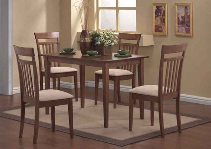 I 1720-DINING SET - 5 PCS SET / WALNUT FINISH