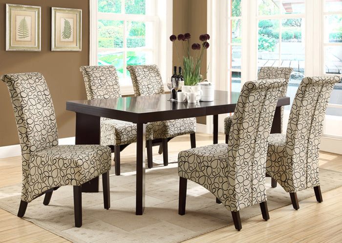 "DINING CHAIR - 2PCS / 40""H / TAN SWIRL FABRIC"