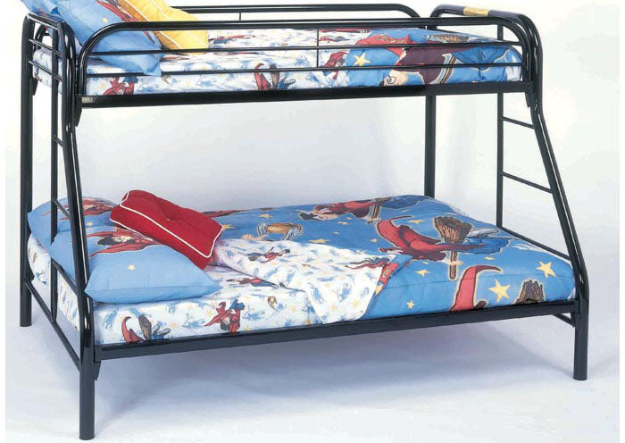 I-2231-K BUNK BED - TWIN / FULL SIZE - BLACK