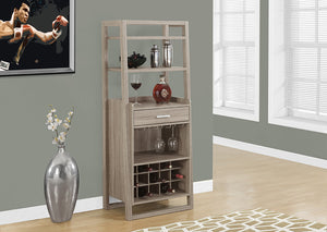 "HOME BAR - 60""H / DARK TAUPE LADDER STYLE"