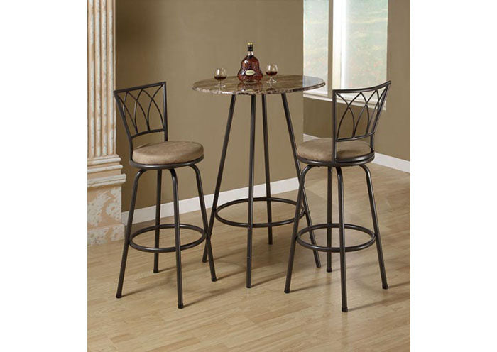 "I 2393-BARSTOOL - 2PCS / 43""H / SWIVEL / DARK COFFEE METAL"
