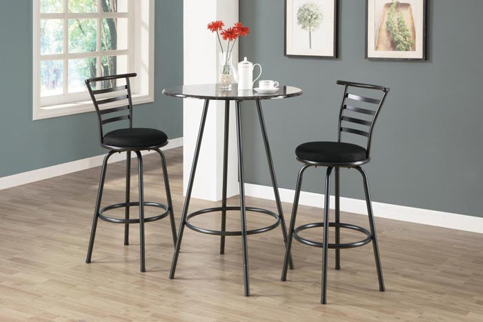 "I 2396-BARSTOOL - 2PCS / 43""H / SWIVEL / SILVER GREY METAL"
