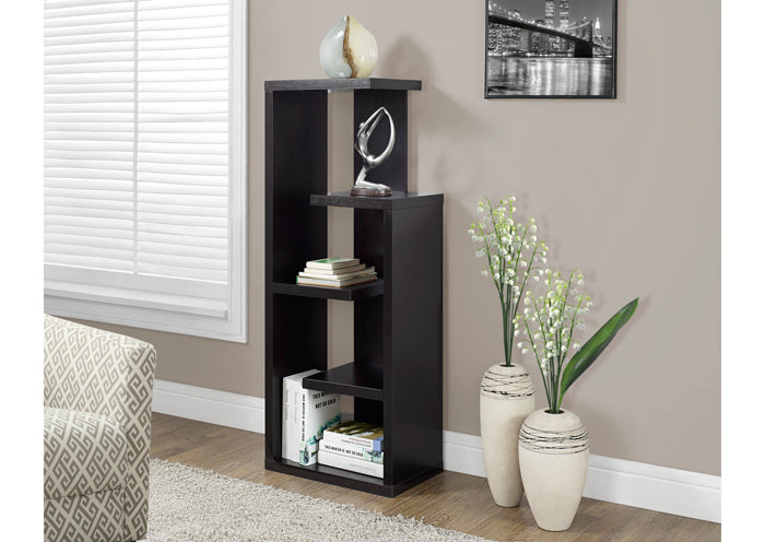 "BOOKCASE - 48""H / CAPPUCCINO ACCENT DISPLAY UNIT"