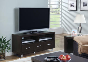 "I 2503-TV STAND - 48""L / CAPPUCCINO WITH 3 DRAWERS"