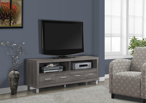 "I 2517-TV STAND - 60""L / DARK TAUPE WITH 4 DRAWERS"