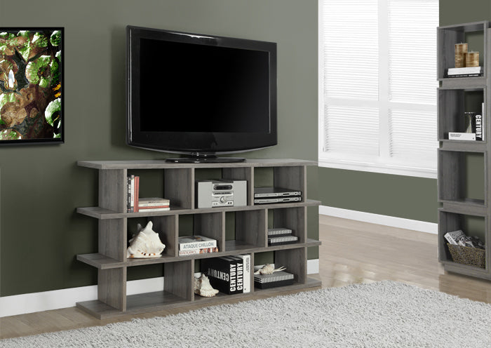 "BOOKCASE - 60"" / DARK TAUPE HORIZONTAL - VERTICAL ETAGERE"