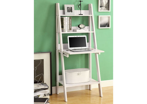 "I 7040 - COMPUTER DESK - 61""H / WHITE LADDER STYLE"