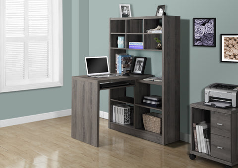 I 7041 - COMPUTER DESK - DARK TAUPE LEFT OR RIGHT FACING CORNER