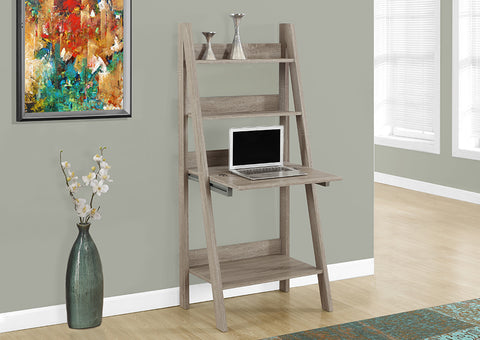 "I 7042 - COMPUTER DESK - 61""H / DARK TAUPE LADDER STYLE"