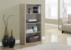 "BOOKCASE - 48""H / NATURAL WITH ADJUSTABLE SHELVES"