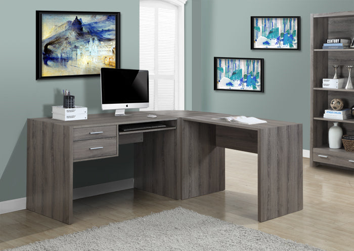 COMPUTER DESK - DARK TAUPE