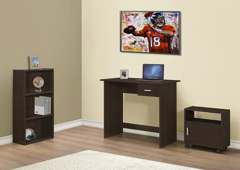 I 7102 - COMPUTER DESK - 3PCS / CAPPUCCINO DESK / BOOKCASE / CART