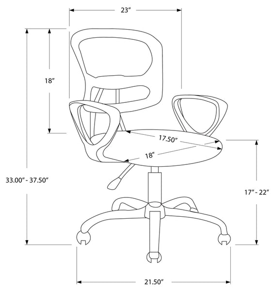I 7261 - OFFICE CHAIR - WHITE MESH JUVENILE / MULTI-POSITION