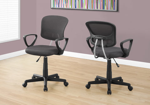 I 7262 - OFFICE CHAIR - GREY MESH JUVENILE / MULTI POSITION