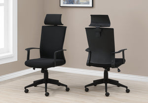 I 7300 - OFFICE CHAIR - BLACK / BLACK FABRIC / HIGH BACK EXECUTIVE