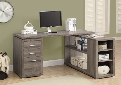 I 7319 - COMPUTER DESK - DARK TAUPE LEFT OR RIGHT FACING CORNER