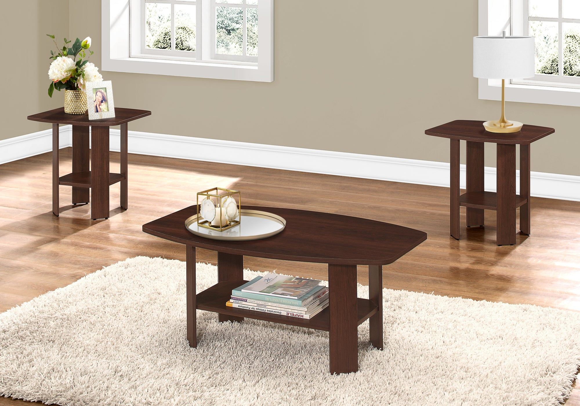 I 7923P - TABLE SET - 3PCS SET - CHERRY