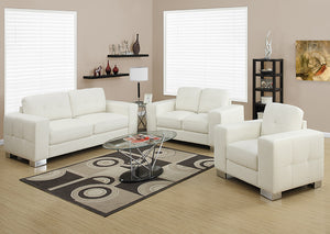 I 8222IV - LOVE SEAT ONLY - IVORY BONDED LEATHER