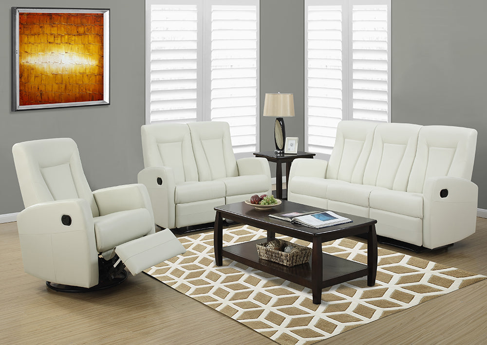 RECLINING - ARMLESS IVORY BONDED LEATHER