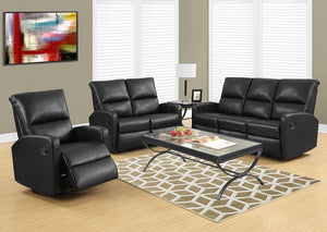 RECLINING - RIGHT FACING BLACK BONDED LEATHER