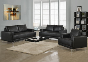 I 8601BK-CHAIR - BLACK BONDED LEATHER